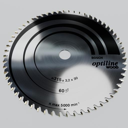 Circular saw blade BOSCH optiline