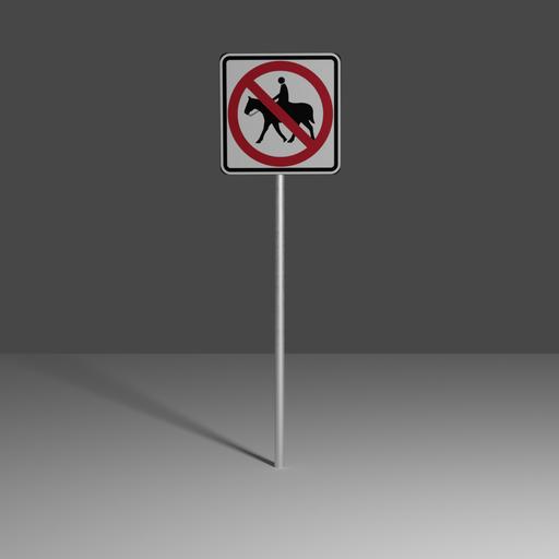 Thumbnail: No equestrian crossing