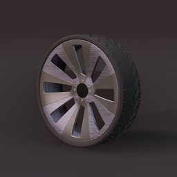 Thumbnail: Sports car wheel 1