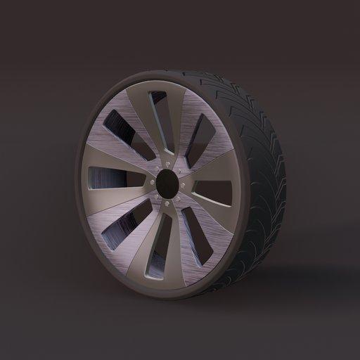 Thumbnail: Sports car wheel 1