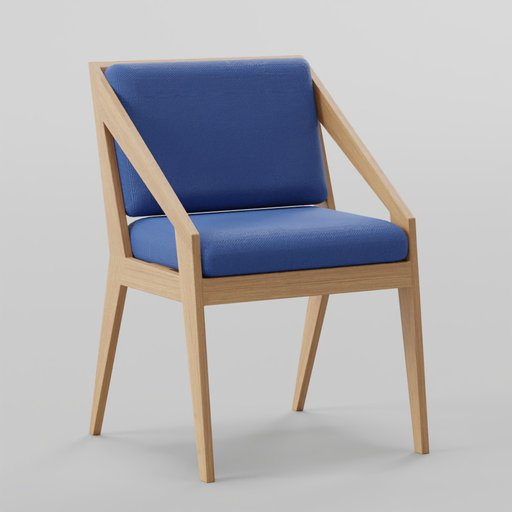 Thumbnail: Wood Knife Chair 55x55x84