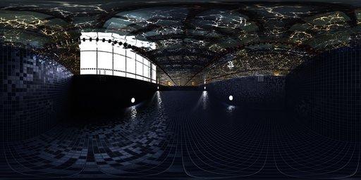 Indoor swimming pool under water