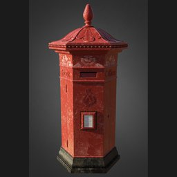 Thumbnail: Vintage Victorian Post Box 002