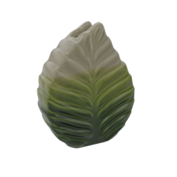Thumbnail: Vase L Hermitage White and Green