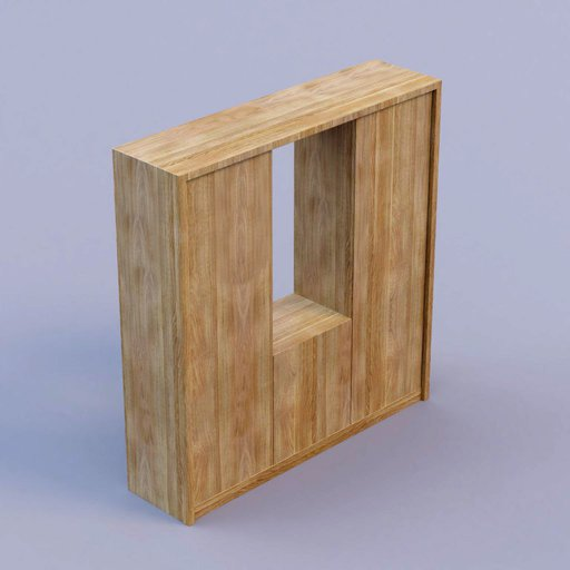 Thumbnail: oak wood cabinet