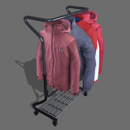 #4 jackets on a hanger