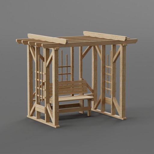 Thumbnail: Pergola with bench