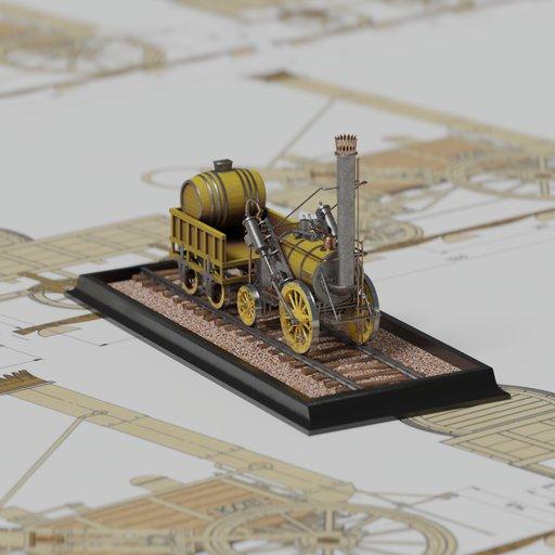 The steam locomotive ROCKET