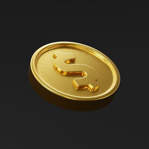 Coin Dollar 1,5 cm