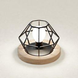 Thumbnail: Desk Table Lamp Light wood and steel