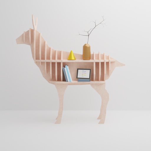 Plywood Deer Rack with Decorations