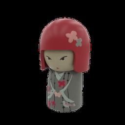Thumbnail: SM_Kokeshi Japanese Doll 01