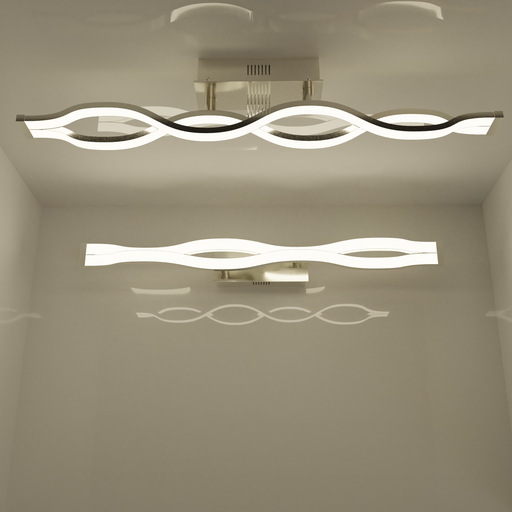 Thumbnail: Ceiling lamp - double wave