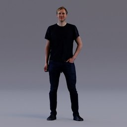 Thumbnail: 3D soul - standing young man - Tom