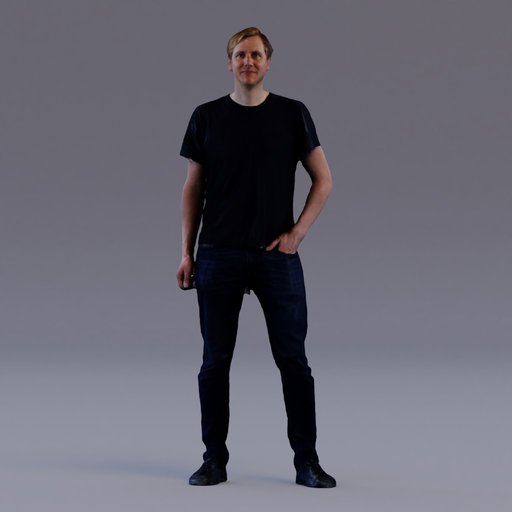 3D soul - standing young man - Tom