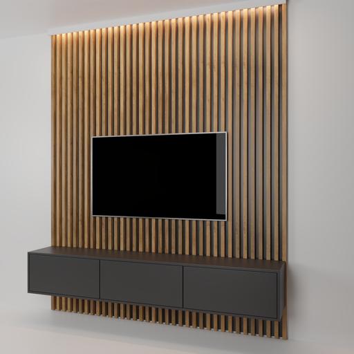 Thumbnail: Wooden tv wall
