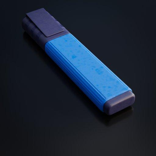 Thumbnail: Blue textmarker pen