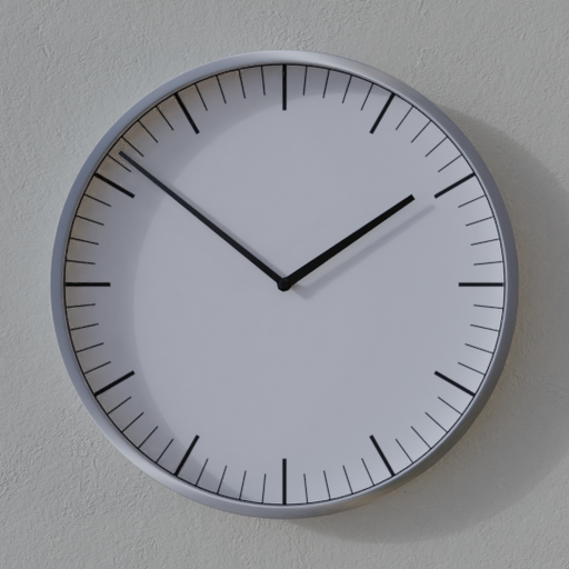 Thumbnail: Brushed metal clock