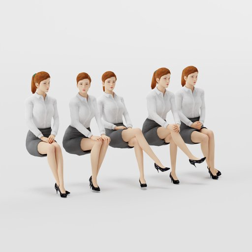 Thumbnail: Woman Formal Sit Pose 2