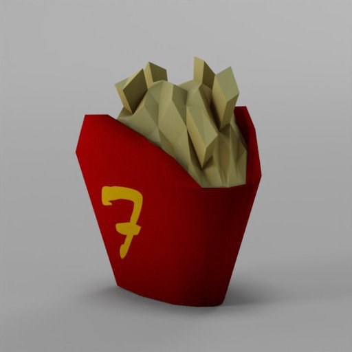 Thumbnail: Low Poly French Fries