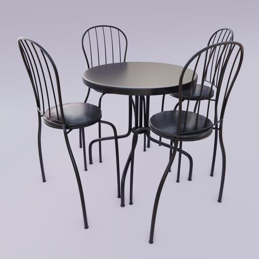 Thumbnail: Black Bistro Table