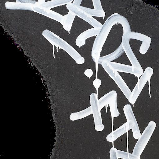 Thumbnail: Graffiti decal white paint