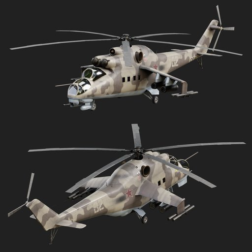 Thumbnail: Mi-24 Battle Hind Russian Attack Helicopter