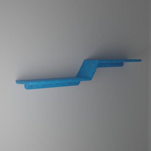 Thumbnail: Blue Wall Shelf (Low Poly)