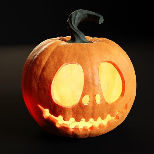 Thumbnail: Halloween pumpkin head