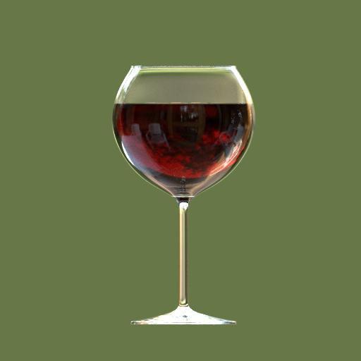 Thumbnail: burgundy wine glass full