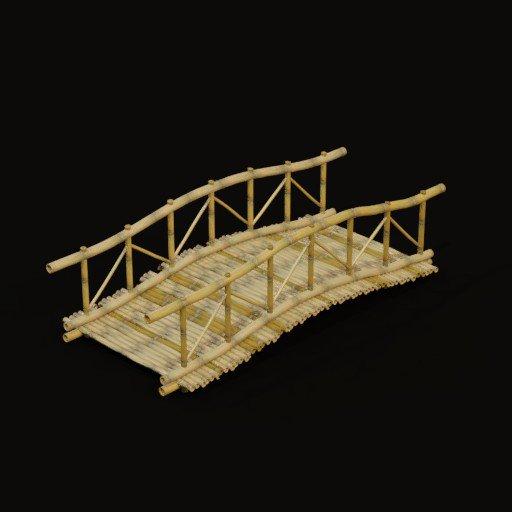 Garden bamboo bridge