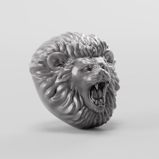 Thumbnail: Roaring Lion Head Decoration