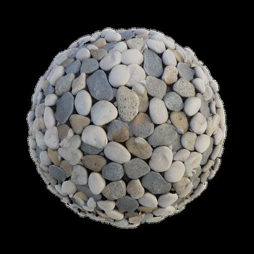 Rock pebbled ground