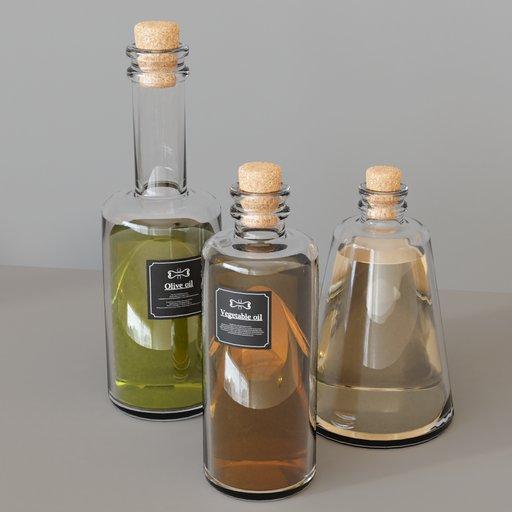 KITCHEN SET 7 - Oil bottles