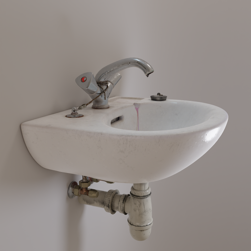 Small old sink