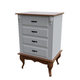 Thumbnail: Bedside table 04 drawers luis XV