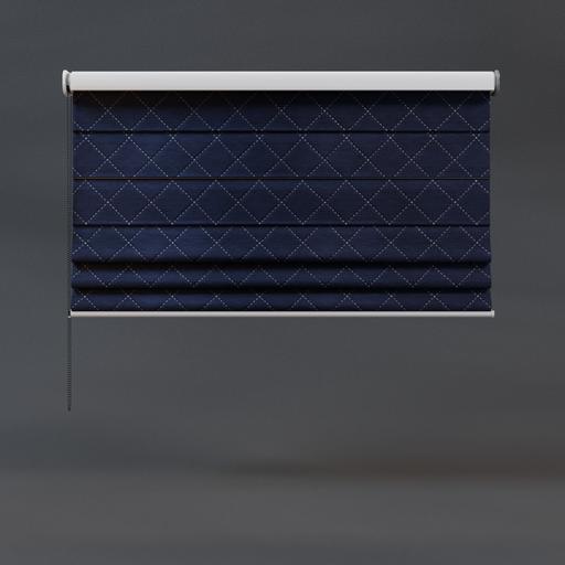 Roman blinds royal blue 02 half