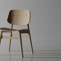 Thumbnail: Søborg Wood Base Chair