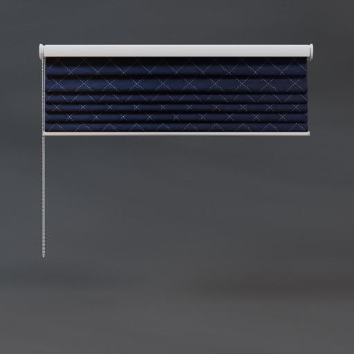 Roman blinds 03 quarter royal blue