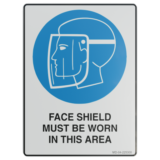 Thumbnail: Sign – Face Shield Must be Worn in This Area.
