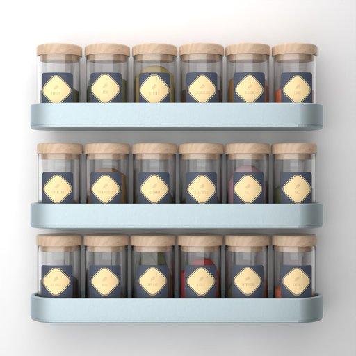 Wall Spice Racks in Bottle