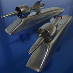 Thumbnail: Hood ornament rocket FORD 1949-1951, for the bonnet.
