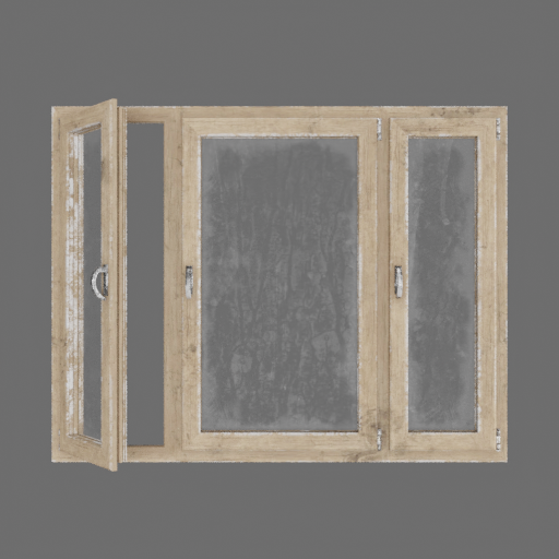 Wood Beech Veined window
