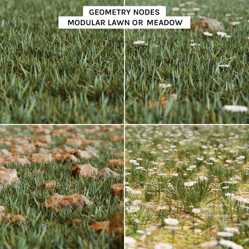 Modular Grass, Meadow or lawn