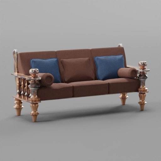 Thumbnail: Solid wooden sofa