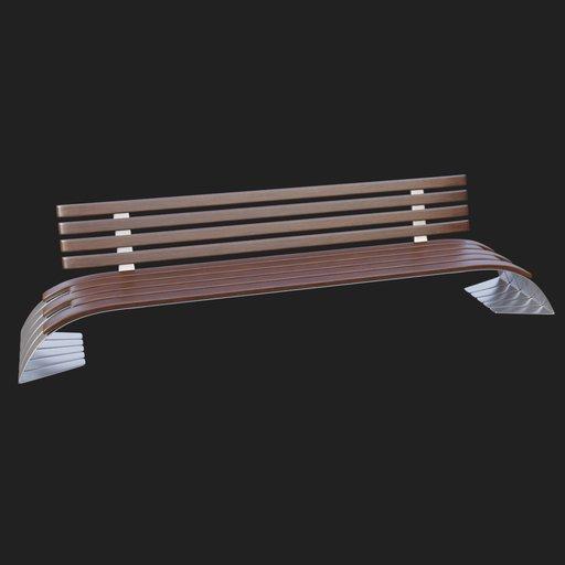 Thumbnail: Modern Street Bench #02v2