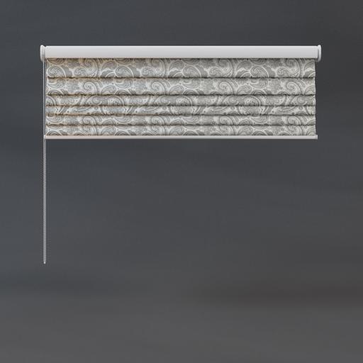 Roman blinds 03 quarter floral pattern