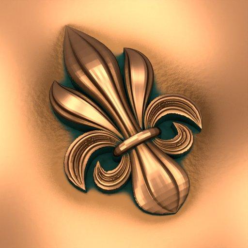 Pointy Diamond Sharp Baroque Ornamental