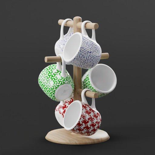 Coffee Mugs On Tree by DJH