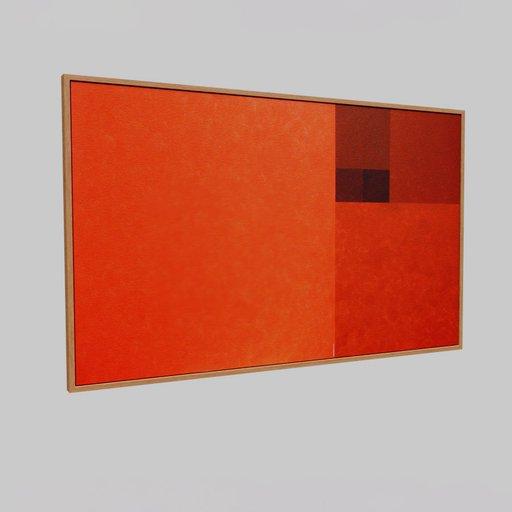 Framed  modern painting